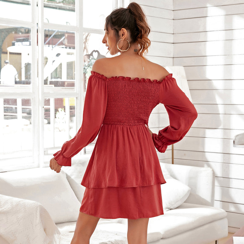 Off Shoulder Long Sleeve Dress