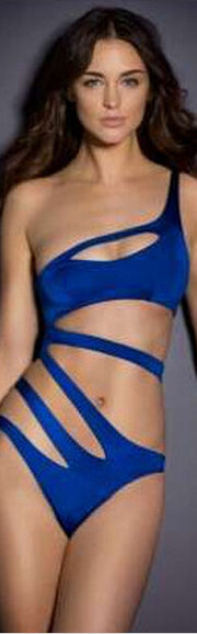 One Shoulder Hollow Out Bandage One Piece Swimwear