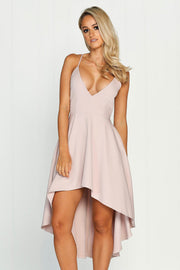 Pure-Color-Spaghetti-Straps-Irregular-Short-Dress