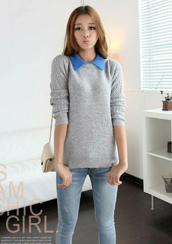False Two Pieces Pullover Sweater - MeetYoursFashion - 2