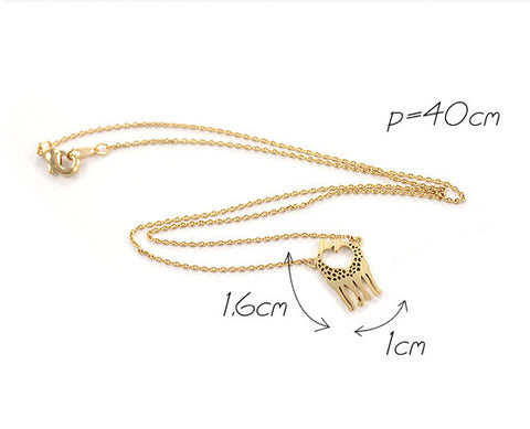 Giraffe Shaped Animal Themed Charm Necklace - MeetYoursFashion - 5