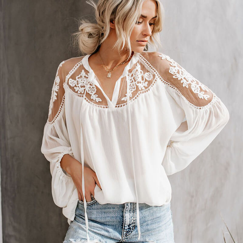 Lace Perspective Blouse
