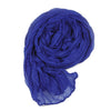 Long Crinkle Scarf Wraps Soft Shawl Stole Pure Color - MeetYoursFashion - 4