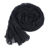 Long Crinkle Scarf Wraps Soft Shawl Stole Pure Color - MeetYoursFashion - 5