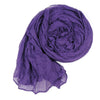 Long Crinkle Scarf Wraps Soft Shawl Stole Pure Color - MeetYoursFashion - 8