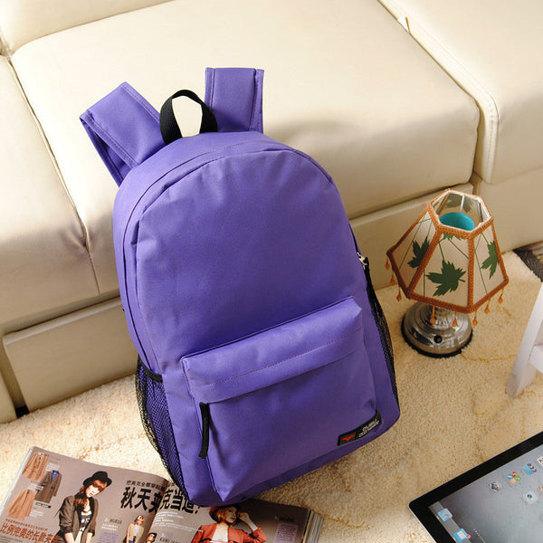 Pure Color Korean Style Flexo Backpack - Meet Yours Fashion - 7