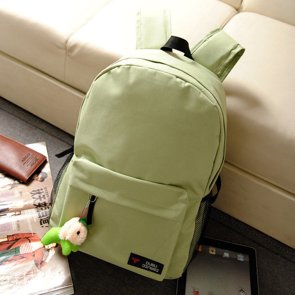 Pure Color Korean Style Flexo Backpack - Meet Yours Fashion - 9