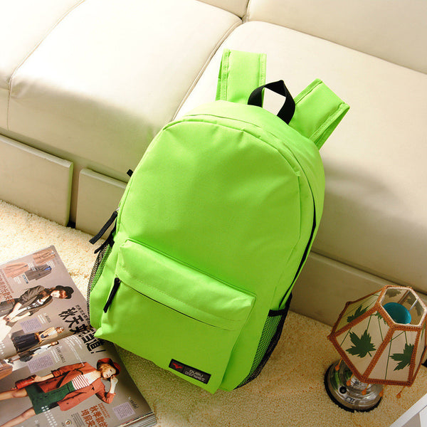 Pure Color Korean Style Flexo Backpack - Meet Yours Fashion - 10