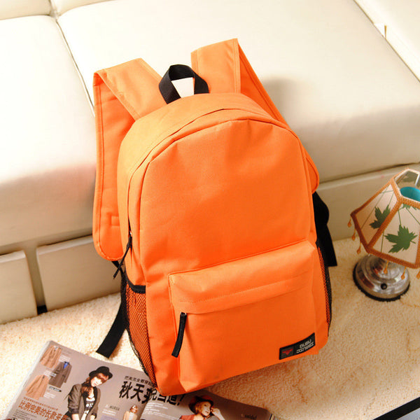 Pure Color Korean Style Flexo Backpack - Meet Yours Fashion - 6