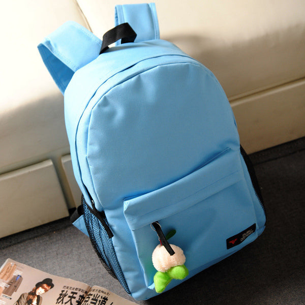 Pure Color Korean Style Flexo Backpack - Meet Yours Fashion - 8