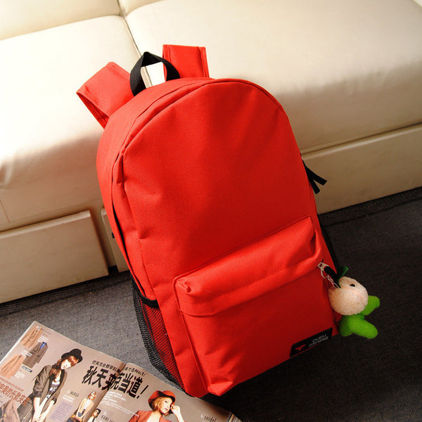 Pure Color Korean Style Flexo Backpack - Meet Yours Fashion - 2