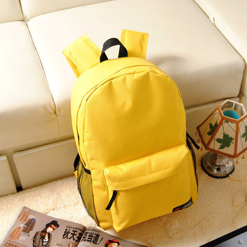 Pure Color Korean Style Flexo Backpack - Meet Yours Fashion - 1