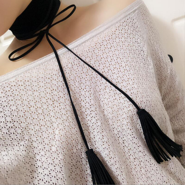 Exaggerated Personality Wide Velvet Collar Necklace