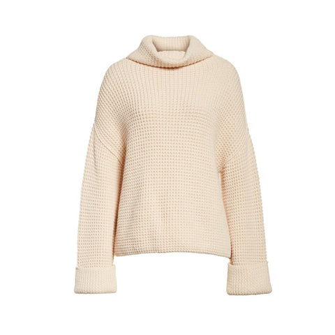 Loose Knitted Women's Sweater Pullover Thickened Solid-Color Underwear Knitwear