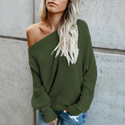 Oversized Long Sleeve Boat Neck Sweater