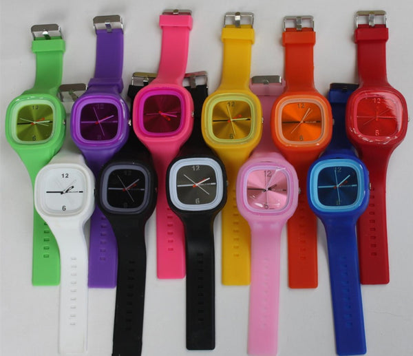 Candy Color Shining Jelly Watch