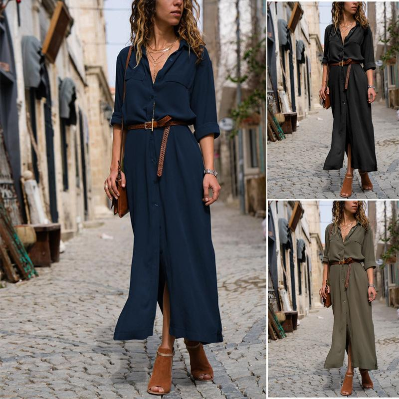 Fashion Loose long sleeve Long Dress