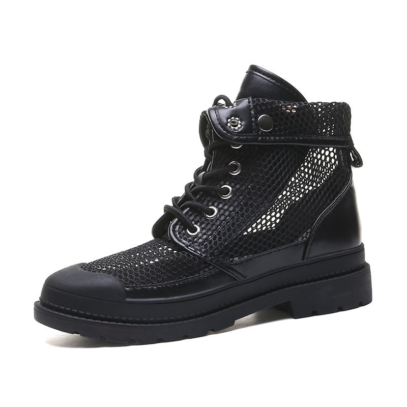 Women Mesh Openwork Breathable Martin Boots