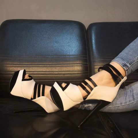 Gladiators Platform Leather Cutout Sandals