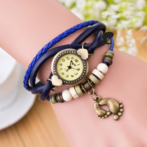 Punk Style Foot Decorate Multilayer Watch