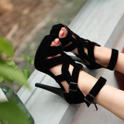 Sexy Ankle Wrap Open Toe Platform High Heel Sandals - MeetYoursFashion - 1