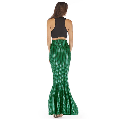 Party High Waist Bodycon Sequin Trumpet Dress