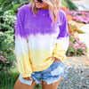 Pullover Tie Dye Loose O Neck Hoodies