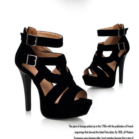 Sexy Ankle Wrap Open Toe Platform High Heel Sandals - MeetYoursFashion - 5