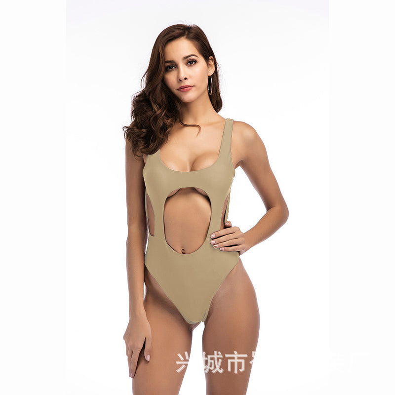 Sexy Hollow Out Straps One Piece Swimwear Bathing Suit