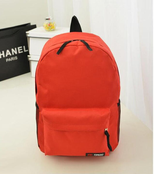 Pure Color Korean Style Casual Backpack School Travel Bag - Meet Yours Fashion - 9
