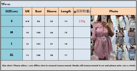 Off the Shoulder Buttons Half Sleeves with Belt Women Short Dress