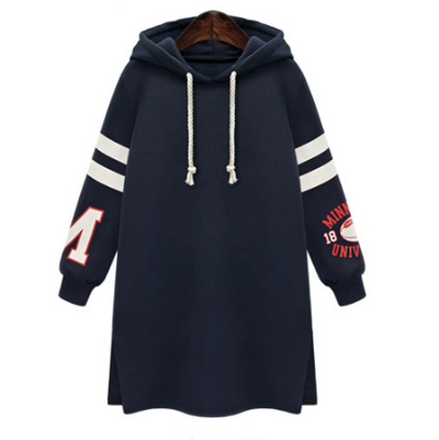Long Slim Pullover Hooded Print Hoodie - Meet Yours Fashion - 2