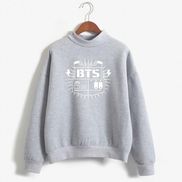 Letter Print Scoop Women Loose Warm Sweatshirt