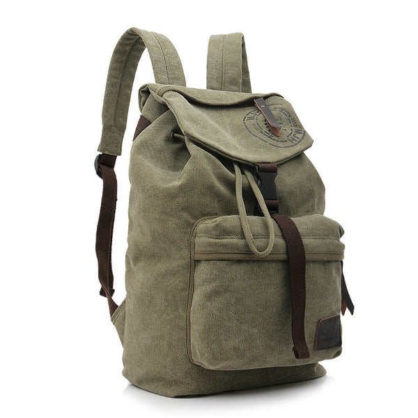 Folder Cover Solid Color Canvas Backpack Leisure Bag - Meet Yours Fashion - 4