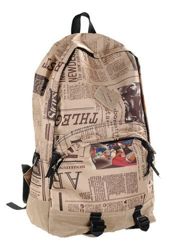 Scrawl Print Unique Backpack Cool Travel School Bag - Meet Yours Fashion - 2