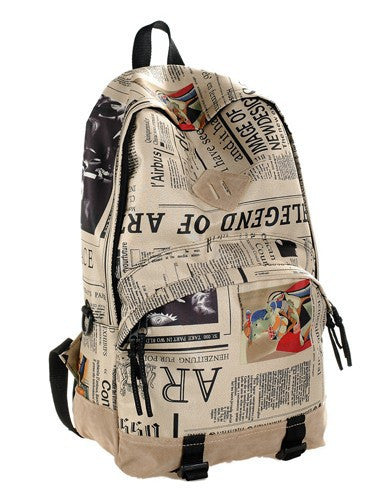Scrawl Print Unique Backpack Cool Travel School Bag - Meet Yours Fashion - 3