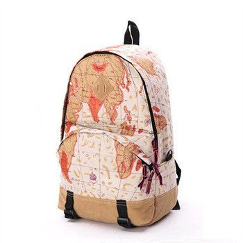 Scrawl Print Unique Backpack Cool Travel School Bag - Meet Yours Fashion - 4