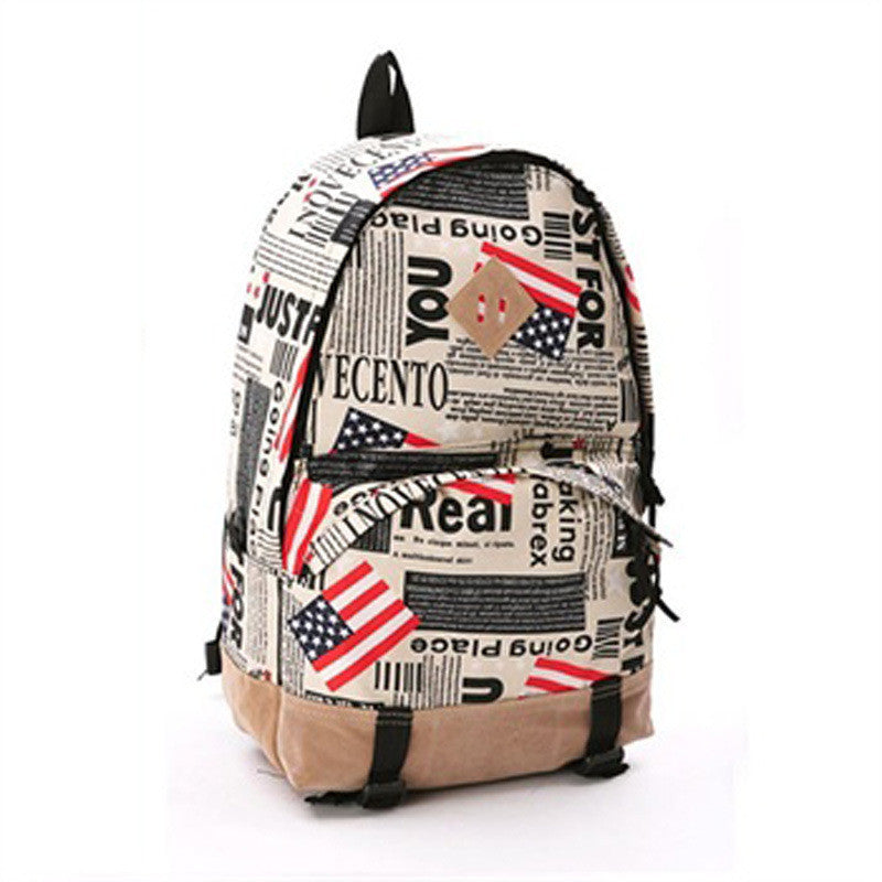 Scrawl Print Unique Backpack Cool Travel School Bag - Meet Yours Fashion - 1