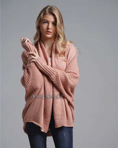 Women's Sweater Loose Bat Sleeves Loose Cardigan