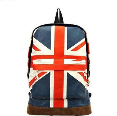 National Flag Print Backpack Canvas Travel School Bag - Meet Yours Fashion - 2