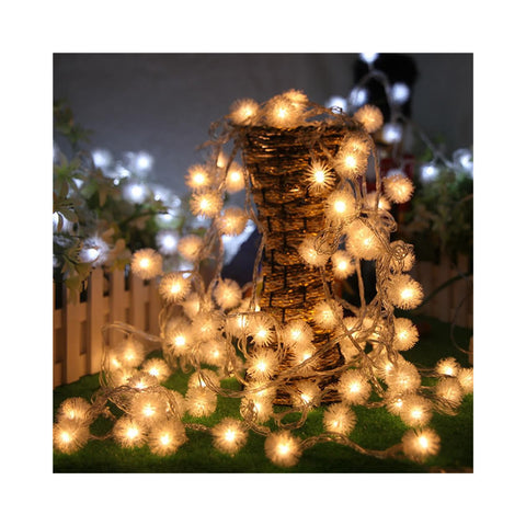 5M 50 LED Fuzzy Ball String Fairy Light festival Party Wedding Decoration