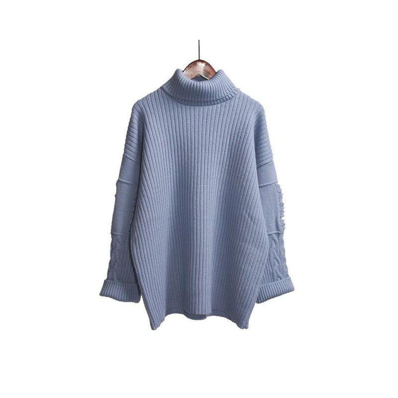 Loose High Collar Thickened Sweater