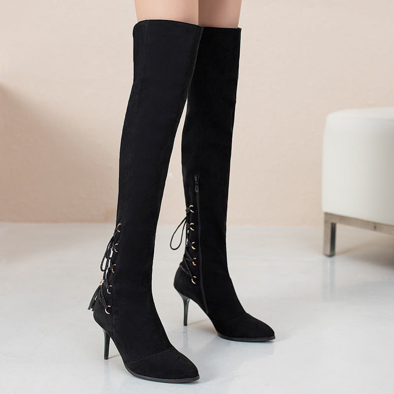 New Over The Knee Tassel Boots