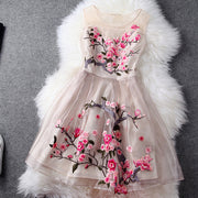Charming Flower Embroidery Short Skater Dress - MeetYoursFashion - 3