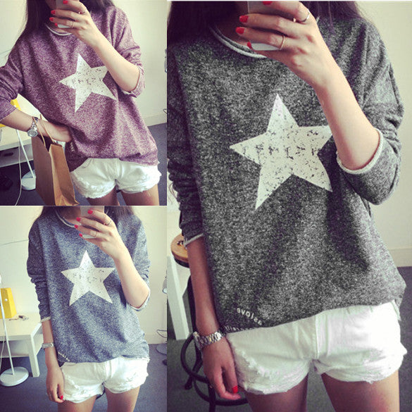 Fall Vintage Pullover Women Long Sleeved Sweatshirt - MeetYoursFashion - 4