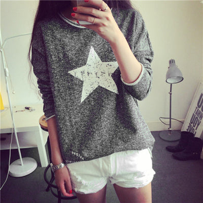 Fall Vintage Pullover Women Long Sleeved Sweatshirt - MeetYoursFashion - 1
