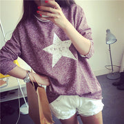 Fall Vintage Pullover Women Long Sleeved Sweatshirt - MeetYoursFashion - 5