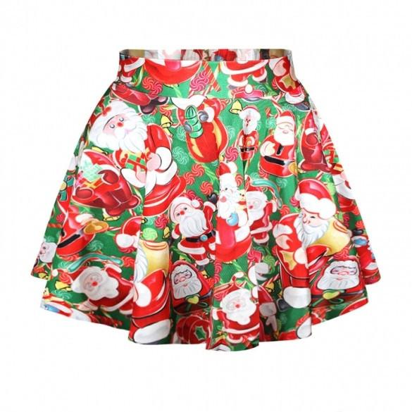 Lovely Christmas Santa Short Skirt - MeetYoursFashion - 6