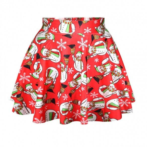 Lovely Christmas Santa Short Skirt - MeetYoursFashion - 4