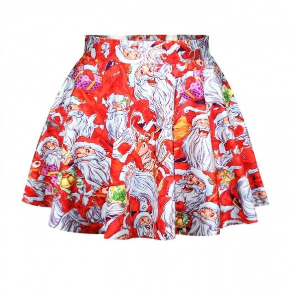 Lovely Christmas Santa Short Skirt - MeetYoursFashion - 8
